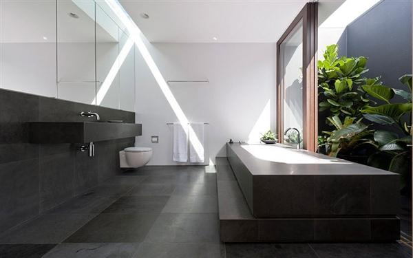 contemporary bathroom design on Luxurious Home by MCK Architects