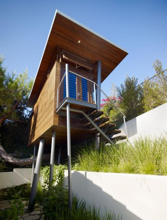 contemporary private tree house design ideas