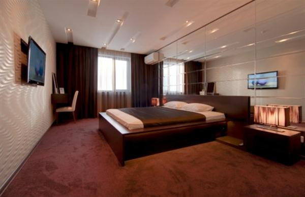 creative bedroom design ideas with dark brown themes