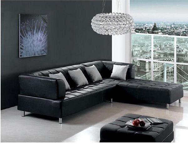 elegant black Corner Sofas for Your Home Interior