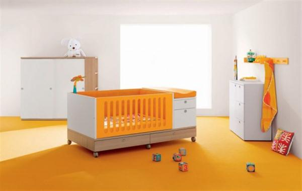 fresh orange Baby Room Inspiration