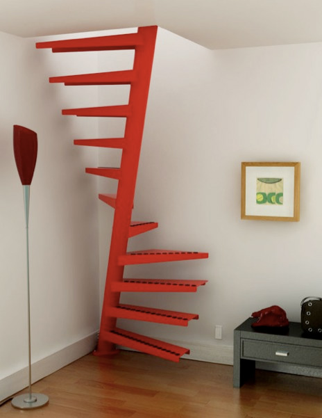 his spiral staircase from Eestairs is a very clever