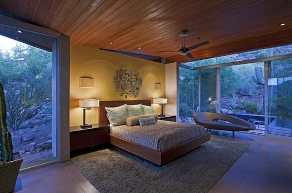 luxurious bedroom Design with Wonderful View in Arizona
