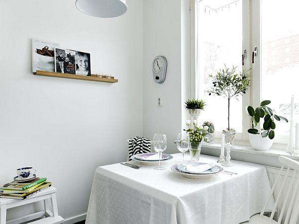 luxurious white dinning room design Inspiration with sweet Swedish concept