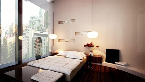 minimalist Bedroom Design Inspiration with Maximizing Wall Decor by Mieki