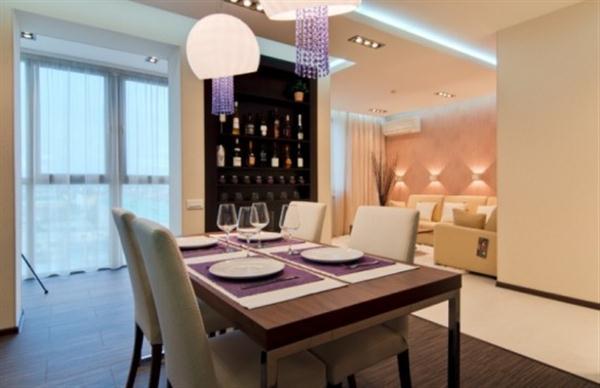 minimalist dinning room on Apartment with Cool Interior Design Ideas