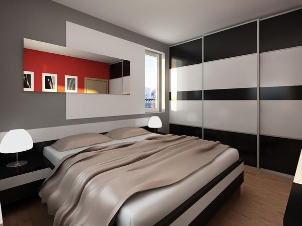 modern and simply bedroom Apartment Design by Neopolis