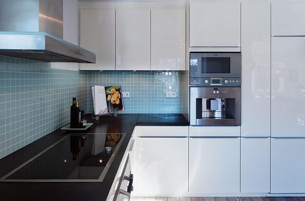 modern white kitchen Design in Sweden