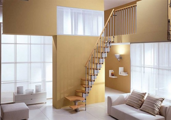 particularly compact open staircase