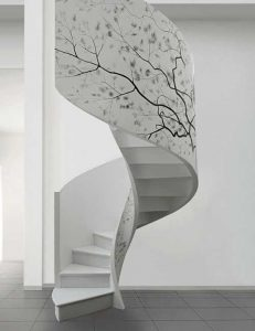 prefabricated elements decorative simple staircase design