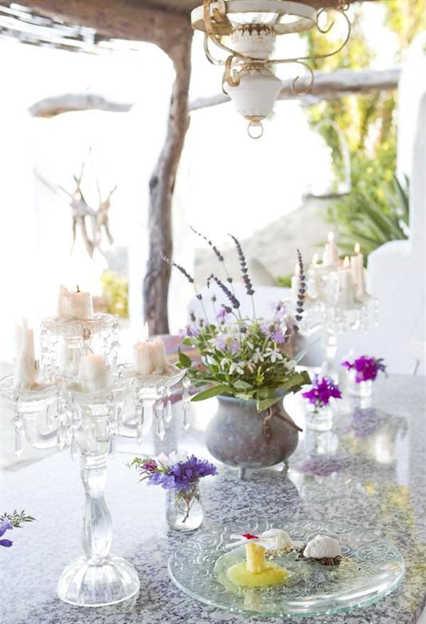 romantic dinning table on Cute Rustic House Design at Spain