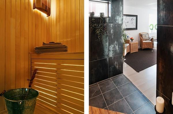 sauna room on Awesome and Simply White House Design in Sweden