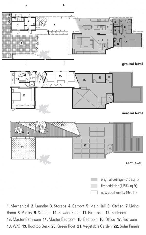 site plan of Modern Home by Bricault Design in Venice California