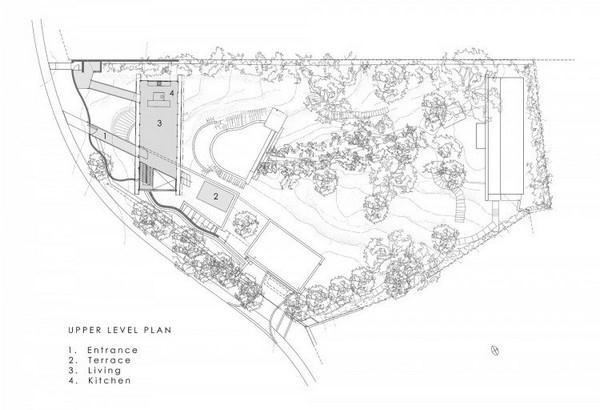 site plan of Villa Design with Unique Concept in South Africa