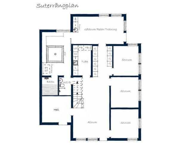 siteplan of Awesome and Simply White House Design in Sweden