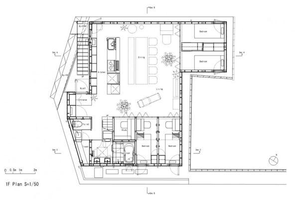 siteplan of Gorgeous Home Design in Yokohama Japan