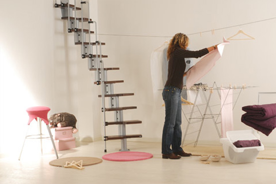 space saving staircase is ideal for limited or narrow spaces