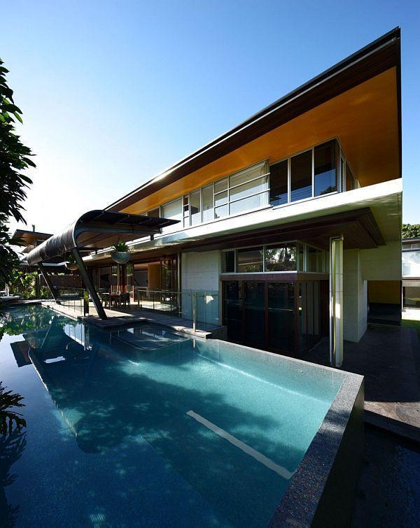 swimming pool on cool Home with Extraordinary design by Arkhefield