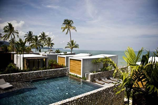 Cool and Amazing Beachfront Villa Design with Eco-friendly Concept in Thailand