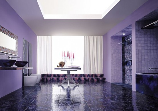 Contemporary Violet Interior Design Ideas