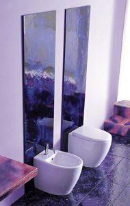 Bathroom tiles with Contemporary Violet Interior Design Ideas inspirartion