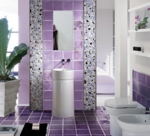 Bathroom with Contemporary Violet Interior Design Ideas inspirartion