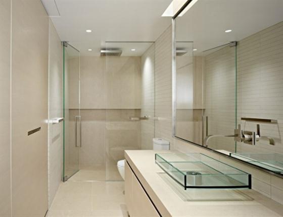Bedroom of stylish warm apartment design