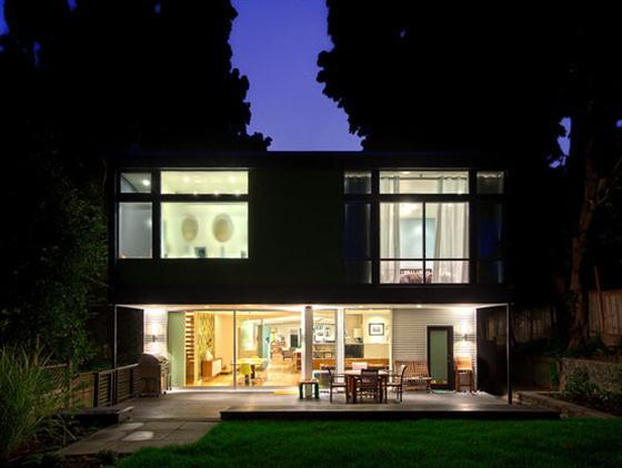 Contemporary Mid Century Home Design Backyard Patio