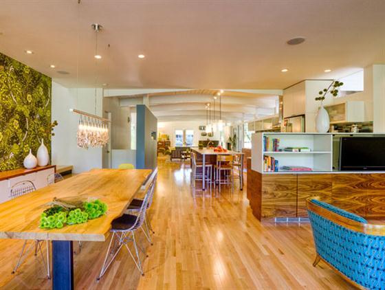 Contemporary Mid Century Home Design Dining Room