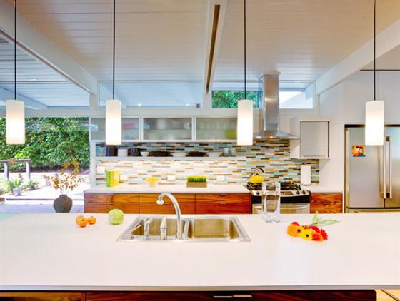 Contemporary Mid Century Home Design Kitchen cabinets