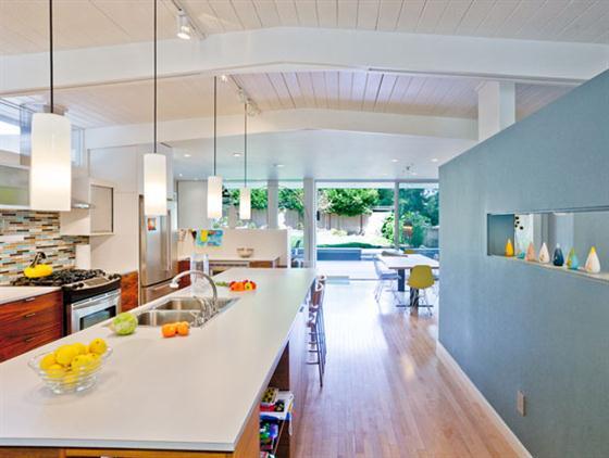 Contemporary Mid Century Home Design Kitchen