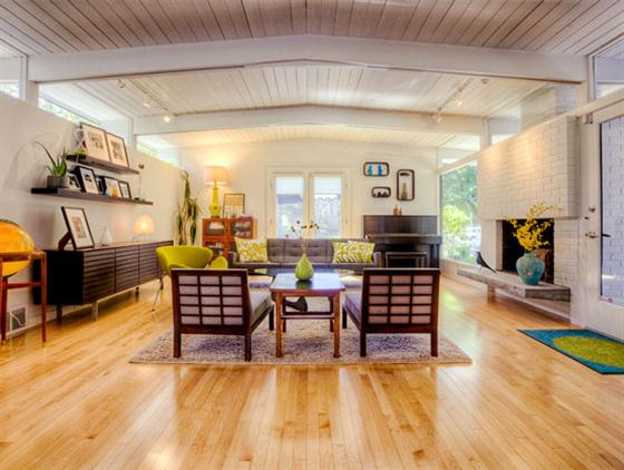 Contemporary Mid Century Home Design Main Room