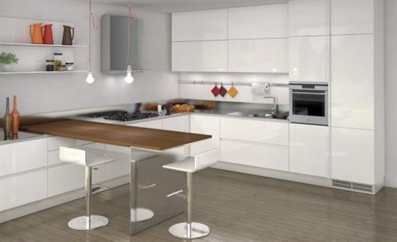 Contemporary Minimalist Sleek Kitchen Design Ideas Cabinets view