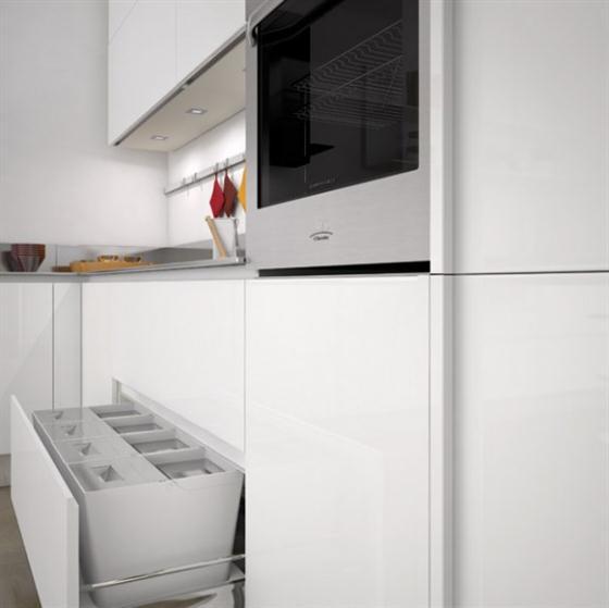 Contemporary Minimalist Sleek Kitchen Design Ideas refrigrator