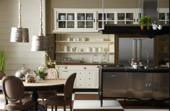 Contemporary Old Town and Country Style Kitchen Design Ideas Classic