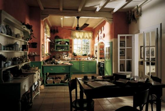 Contemporary Old Town and Country Style Kitchen Design Ideas Cottage