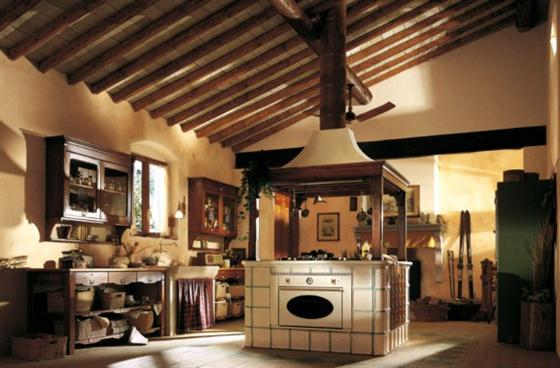 Contemporary Old Town and Country Style Kitchen Design Ideas Country island