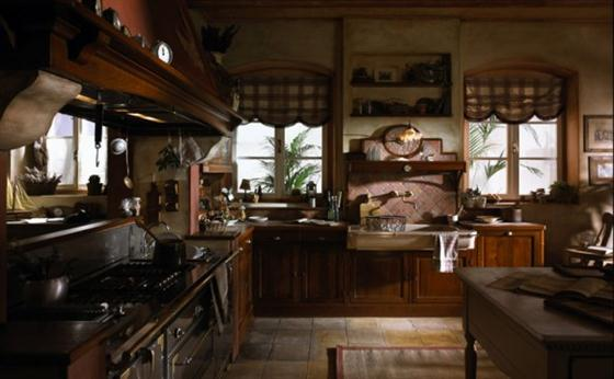Contemporary Old Town and Country Style Kitchen Design Ideas French style