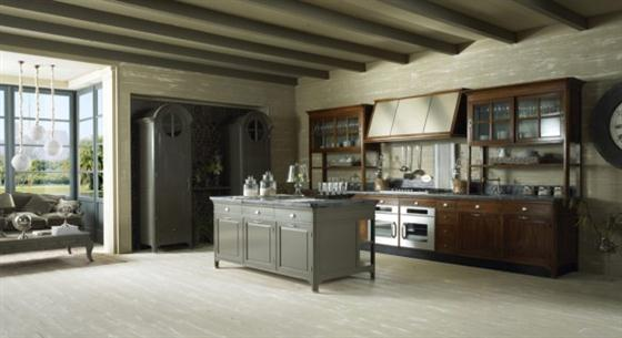 Contemporary Old Town and Country Style Kitchen Design Ideas Spacious