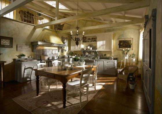 Contemporary Old Town and Country Style Kitchen Design Ideas Traditional