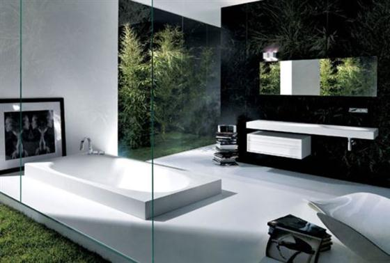 Contemporary Romantic Bathroom Design with Spa-Like Bathtub