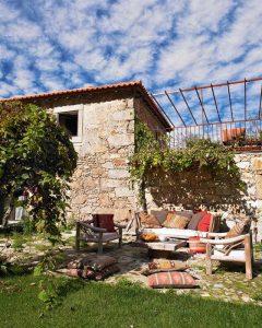 Contemporary Romantic Country Style Home Design Backyard patio