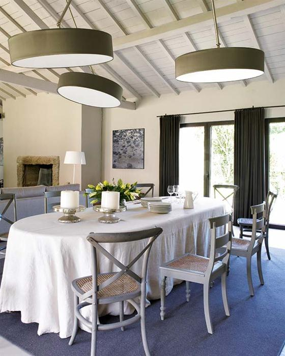 Contemporary Romantic Country Style Home Design Dining Room