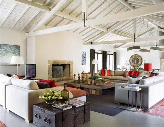 Contemporary Romantic Country Style Home Design Main Room