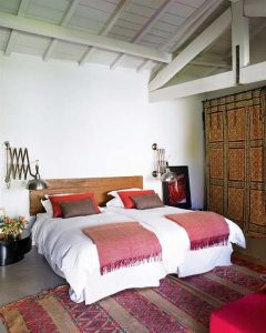 Contemporary Romantic Country Style Home Design Master Bedroom