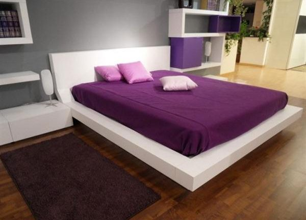 Contemporary Shelves for Minimalist and Modern purple Bedroom