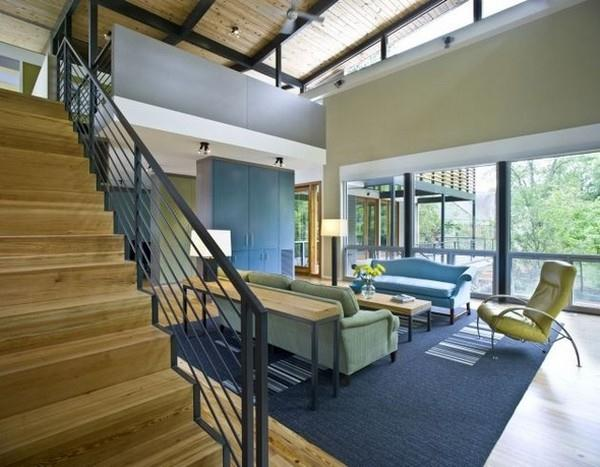 Contemporary The RainShine House by Robert M Cain living room view