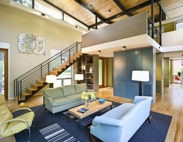 Contemporary The RainShine House by Robert M Cain living room