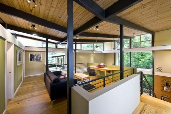 Contemporary The RainShine House by Robert M Cain second floor decor