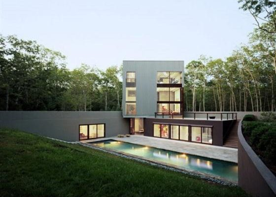 Contemporary Underground Home Design Ideas with Amazing Swimming Pool